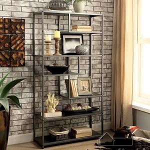 Industrial Display Shelf with Asymmetrical Shelves