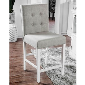Upholstered Counter Height Chair with Button Tufting