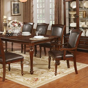 Traditional Dining Table with Leaf
