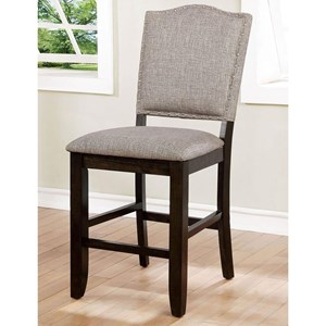 Set of 2 Counter Height Upholstered Chairs