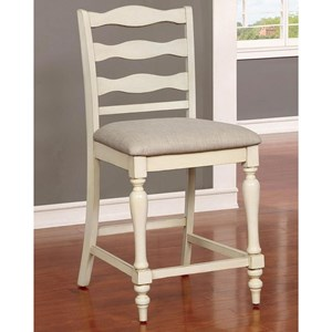 Set of 2 Counter Height Chairs with Turned Legs