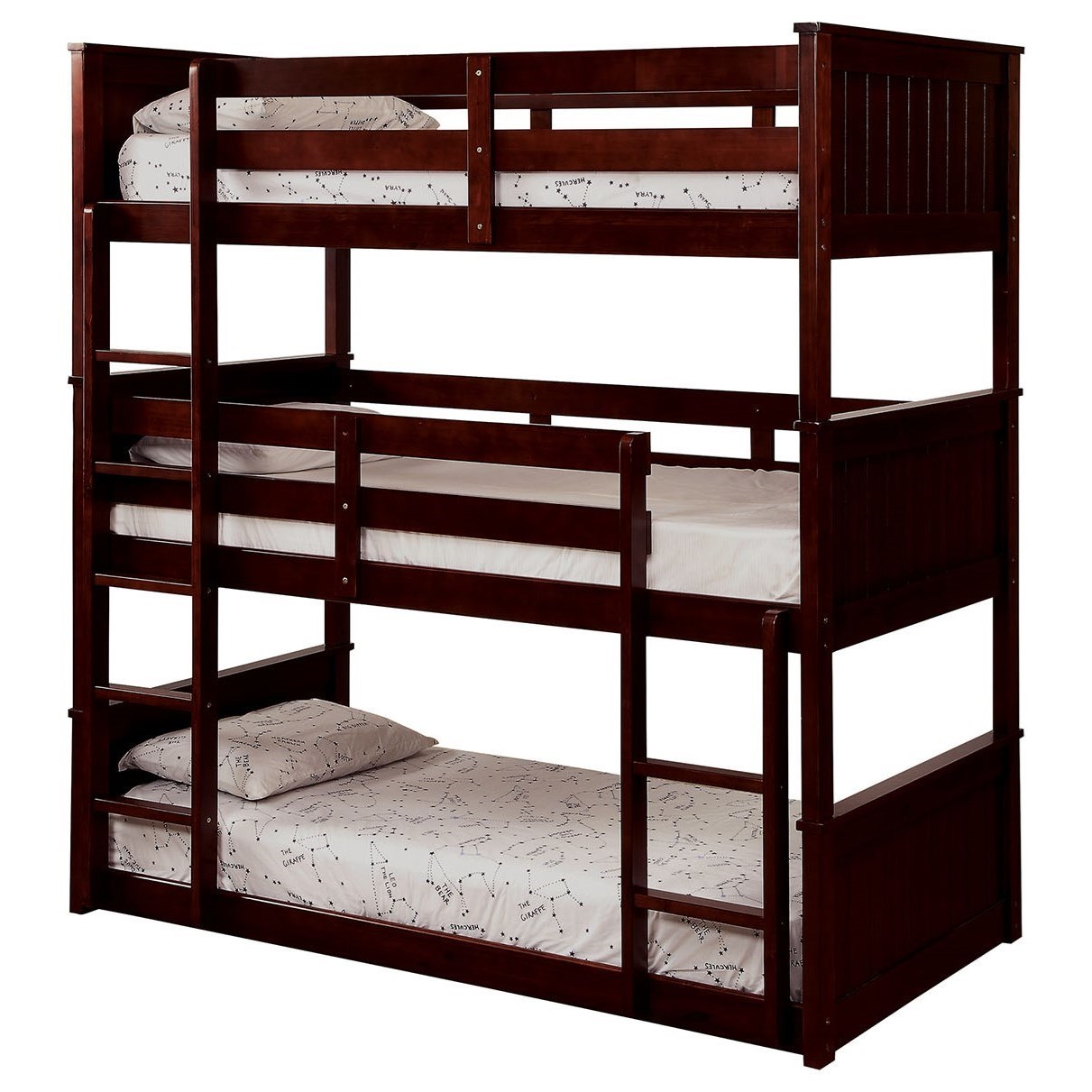 Therese Twin Triple Decker Bed by Furniture of America at Nassau Furniture and Mattress