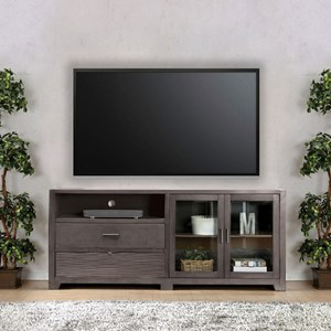 TV Stand with Door and Drawer Storage