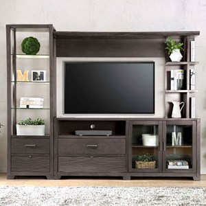 TV Stand Set with Open Shelving