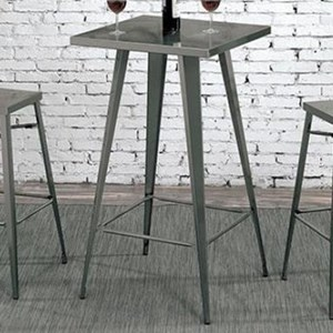 Industrial Bar Height Metal Table