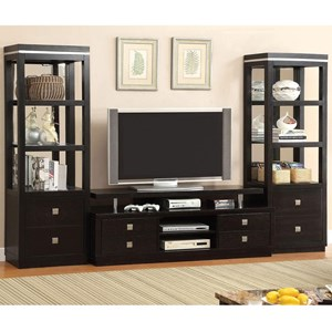 "66"" TV Console + 2 Pier Cabinets"