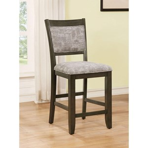 Set of 2 Upholstered Counter Height Chairs