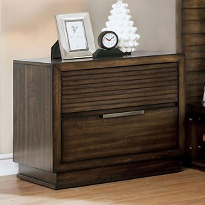 Rustic 2-Drawer Nightstand with USB Port