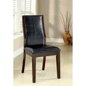 Set of Two Transitional Side Chairs