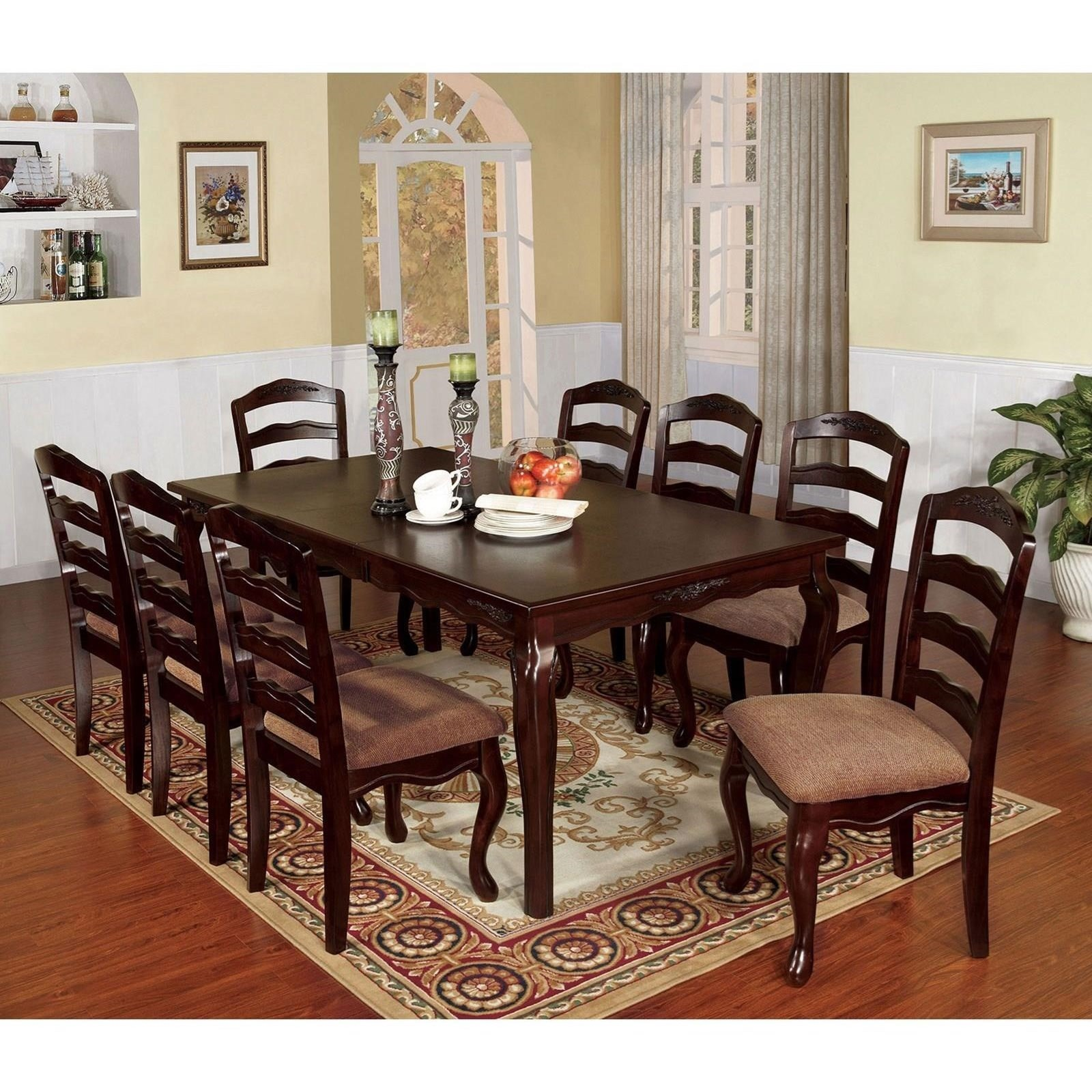 Townsville Table and 8 Side Chairs at Household Furniture