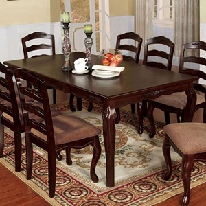"""Traditional 78"""" Rectangular Dining Table"""
