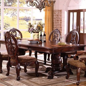 Formal Dining Table with Double Pedestals