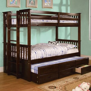 Twin-over-Twin Bunk Bed and Trundle