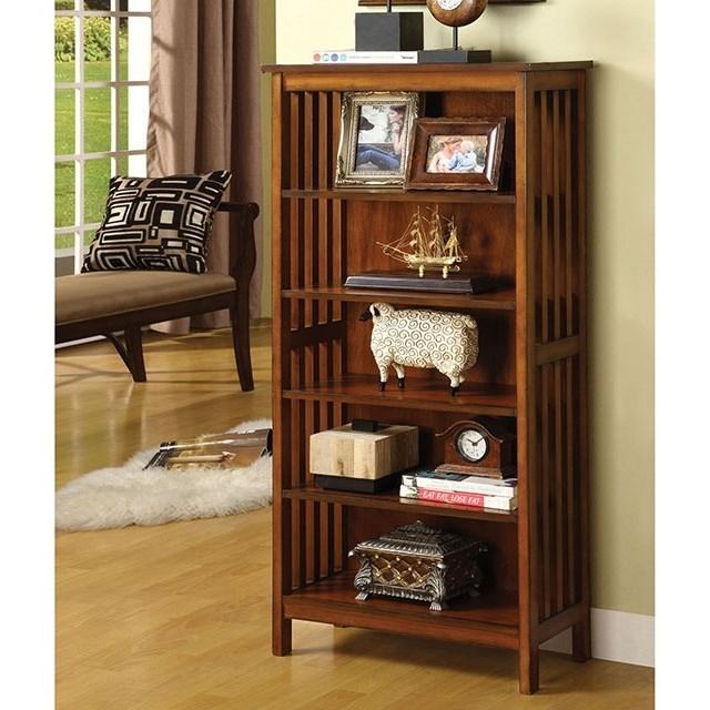 Valencia I Media Shelf by Furniture of America at Corner Furniture