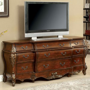 Traditional Breakfront Dining Buffet / TV Stand