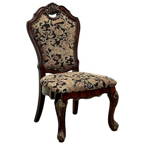 Set of 2 Traditional Upholstered Side Chairs