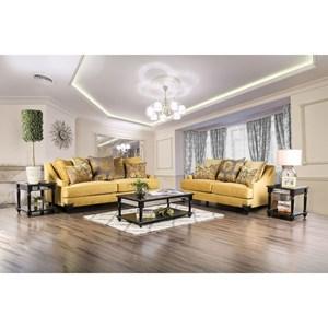 Transitional Sofa + Love Seat Set