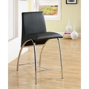 Contemporary Pack of 2 Counter Height Chairs with Curved Legs