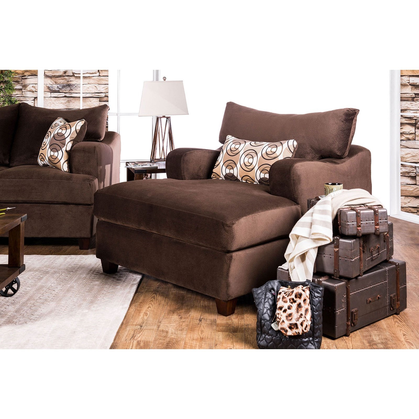 Wessington Chair & A Half by Furniture of America at Value City Furniture