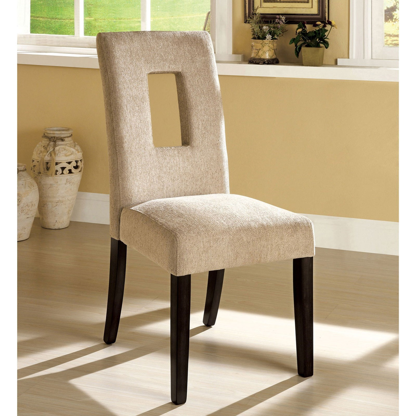 West Palm Set of Two Side Chairs by Furniture of America at Nassau Furniture and Mattress