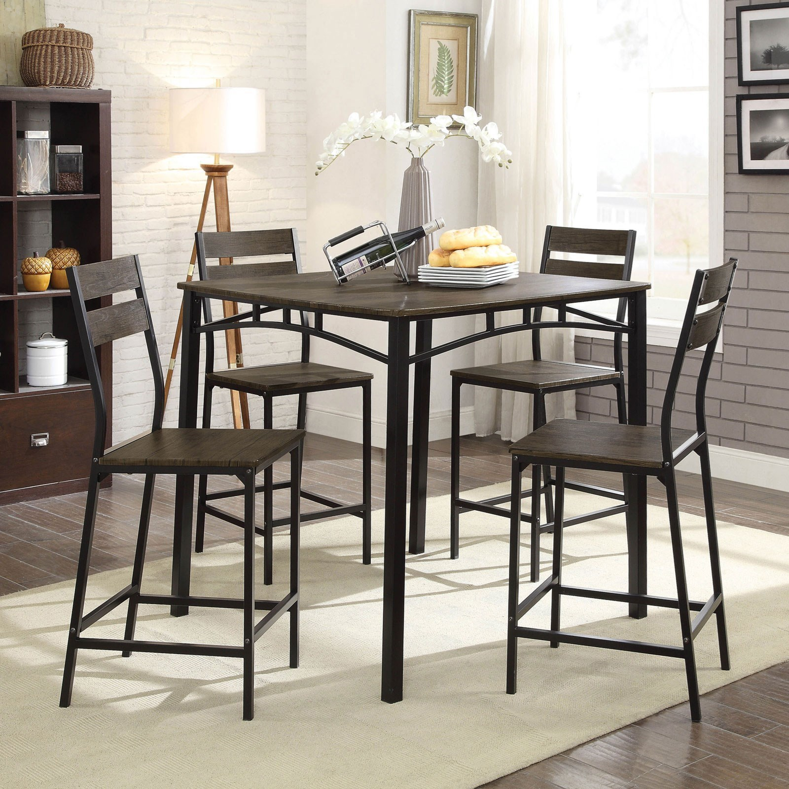 Westport 5-Piece Counter Height Table Set by Furniture of America at Nassau Furniture and Mattress