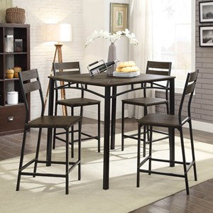 Contemporary 5-Piece Counter Height Table Set