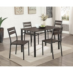 Contemporary 5-Piece Dining Table Set