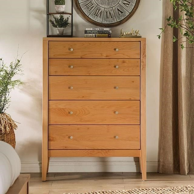 Willamette 5-Drawer Chest by Furniture of America at HomeWorld Furniture