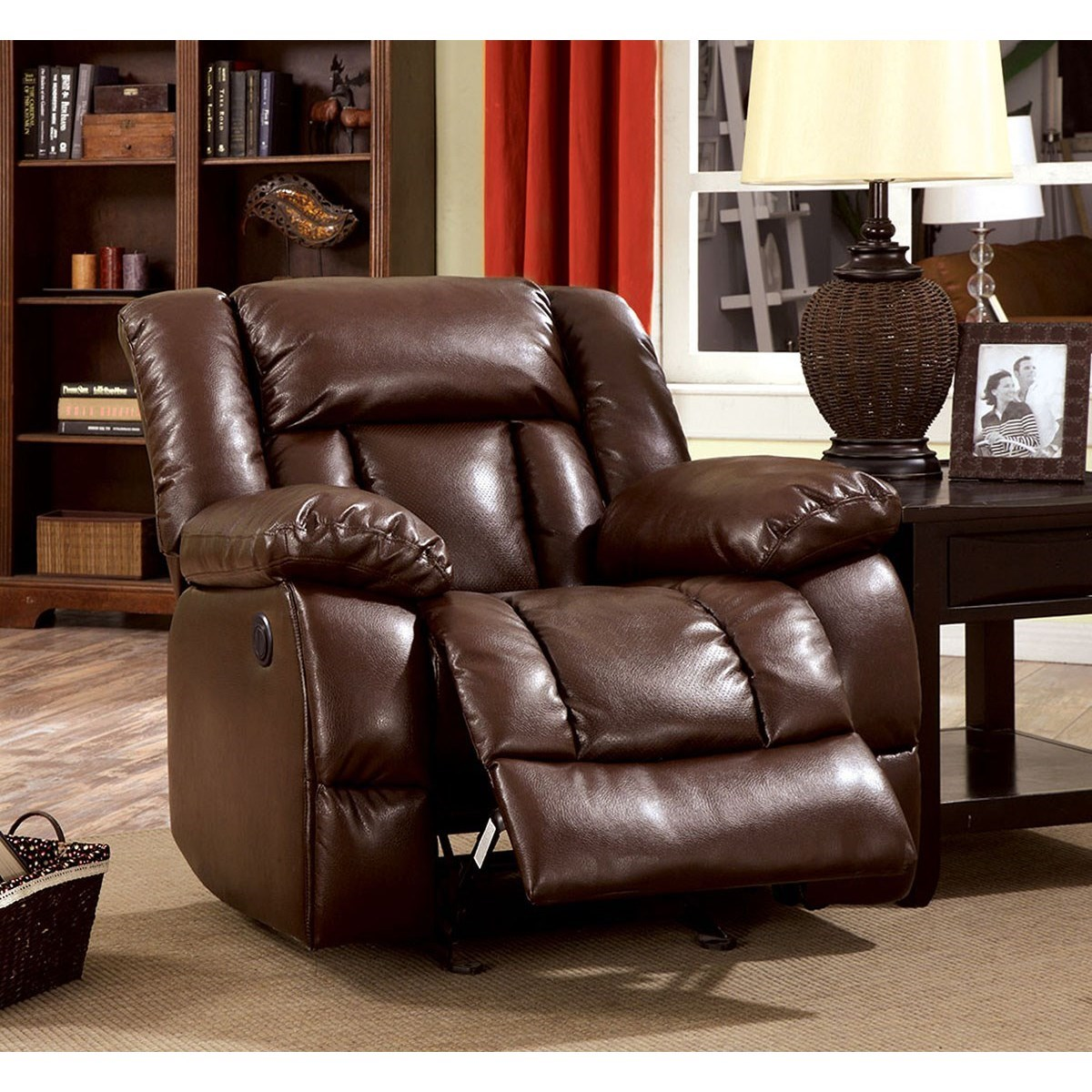 Wimbledon Power-Assist Recliner by Furniture of America at Corner Furniture