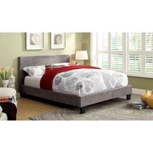 Contemporary King Upholstered Platform Bed