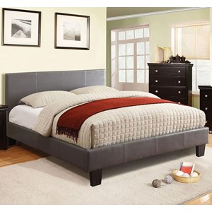 Contemporary Full Upholstered Platform Bed