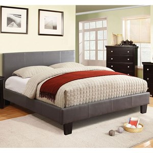Contemporary Queen Upholstered Platform Bed