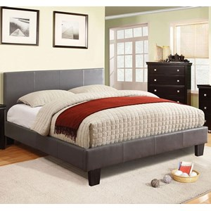 Contemporary Twin Upholstered Platform Bed