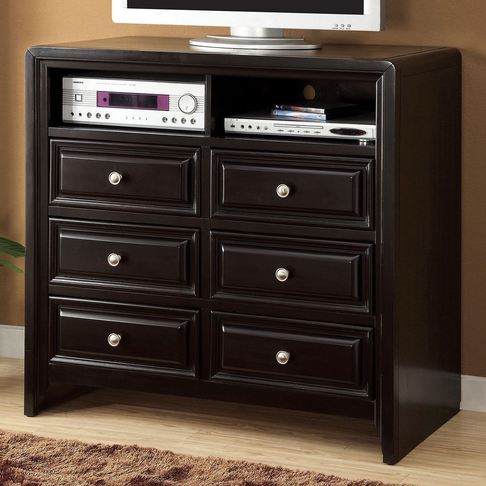 Winsor Media Chest by Furniture of America at Corner Furniture