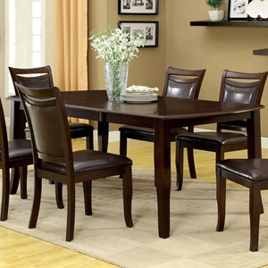 Transitional Rectangular Dining Table with 1 Table Extension Leaf