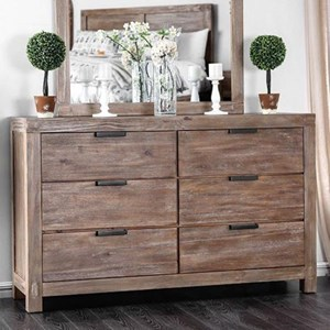 Rustic Dresser with Metal Drawer Handles