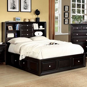 Contemporary California King Platform Bed with Storage