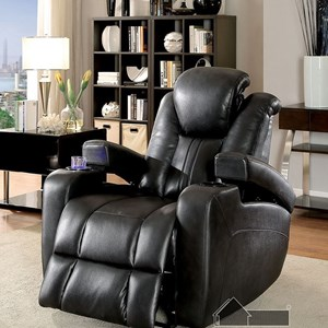Contemporary Power Recliner with USB Outlet