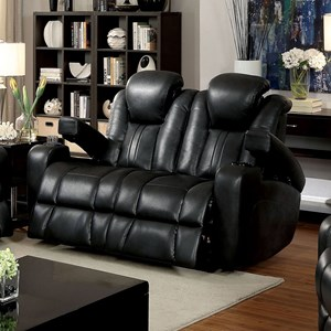 Power Reclining Loveseat with USB Port and Cupholders