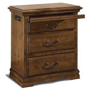 Furniture Traditions Alder Hill 3-Drawer Night Stand
