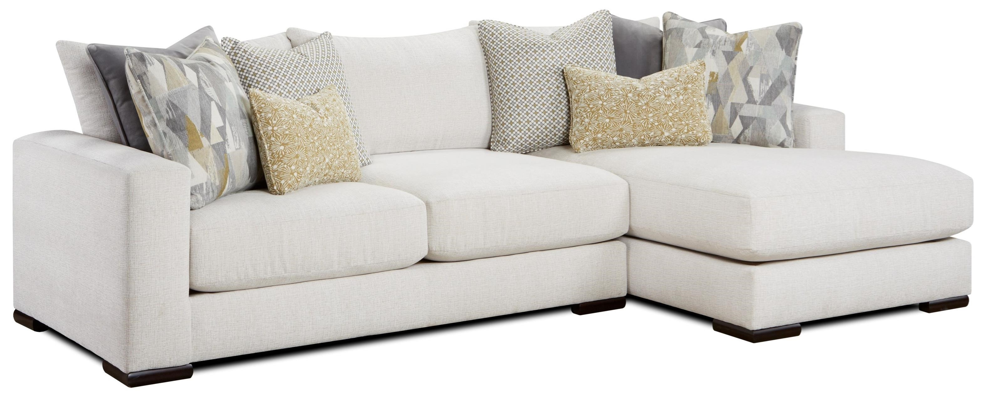 1050-20 2-Piece Sectional with Right Chaise by Fusion Furniture at Prime Brothers Furniture