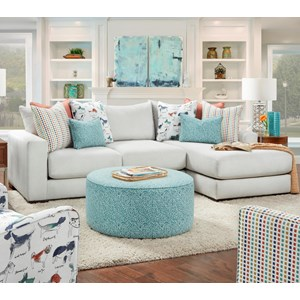 Contemporary 2-Piece Sectional with Right Chaise