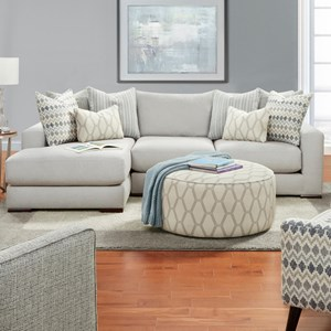 Contemporary 2-Piece Sectional with Left Chaise