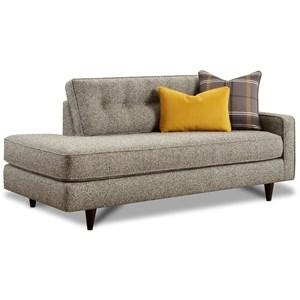 Mid-Century Modern One-Arm Sofa/Chaise