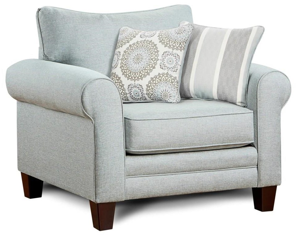 1140 Grande Mist Chair and 1/2 by Fusion Furniture at Furniture Fair - North Carolina