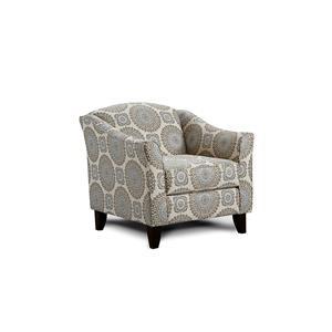Fusion Furniture Grande Mist Brianne Twilight Accent Chair
