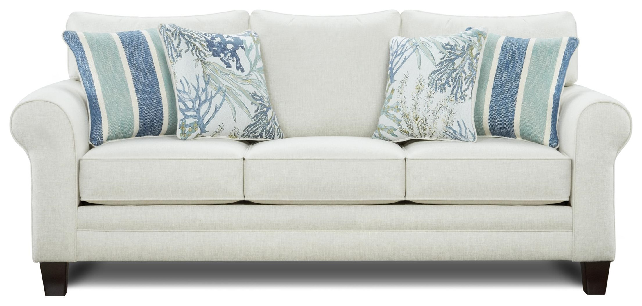 1140 Stationary Sofa w/ Accent Pillows by Kent Home Furnishings at Johnny Janosik