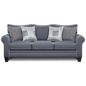 Stationary Sofa w/ Contrast Welts