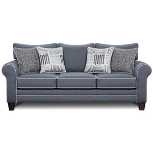 Sleeper Sofa w/ Contrast Welts