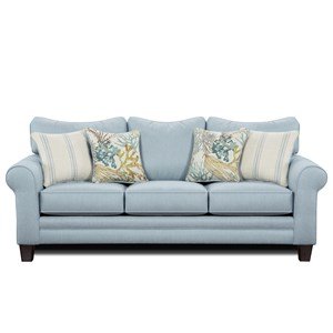 Sleeper Sofa w/ Accent Pillows